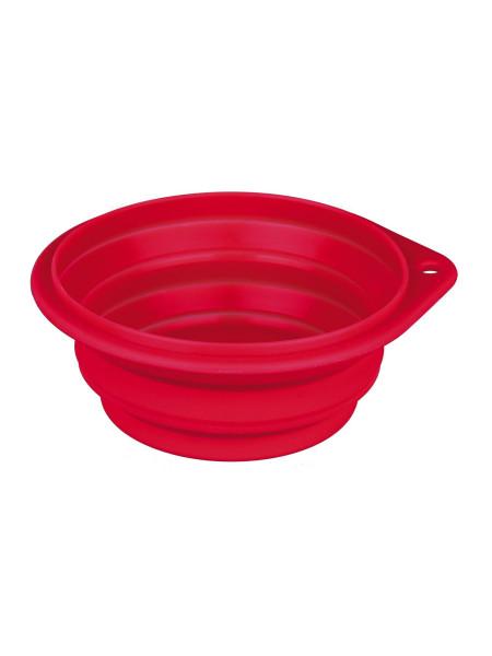 Миска силиконовая Trixie складная 1 л / 18 см (красная, синяя)