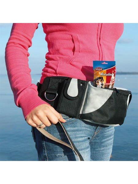 Пояс с сумками Trixie «Baggy Belt» 62-125 см (чёрная)