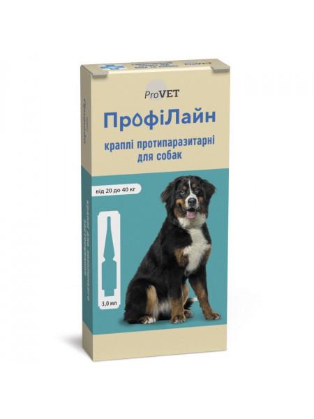 Капли на холку для собак ProVET «ПрофиЛайн» от 20 до 40 кг, 4 пипетки (от внешних паразитов)