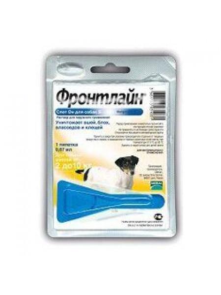 Капли на холку для собак Merial «Frontline» (Фронтлайн) от 2 до 10 кг, 1 пипетка (от внешних паразитов)