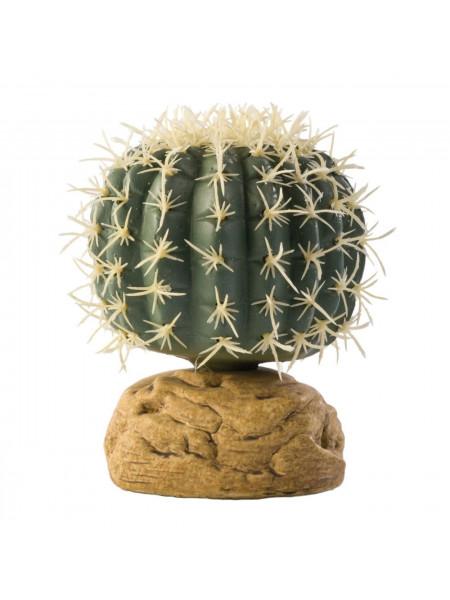 Декорация для террариума Exo Terra растение на подставке «Barrel Cactus» S