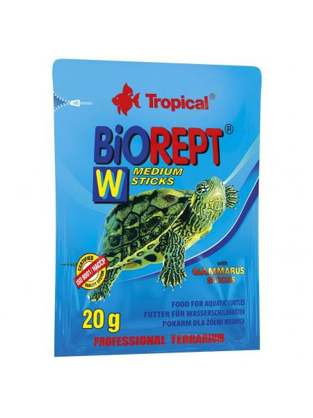 Сухой корм для водоплавающих черепах Tropical в палочках «Biorept W» 20 г