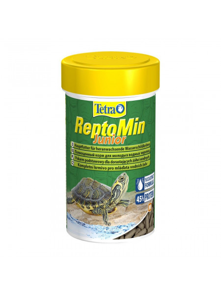 Сухой корм для молодых водоплавающих черепах Tetra в палочках «ReptoMin Junior» 250 мл