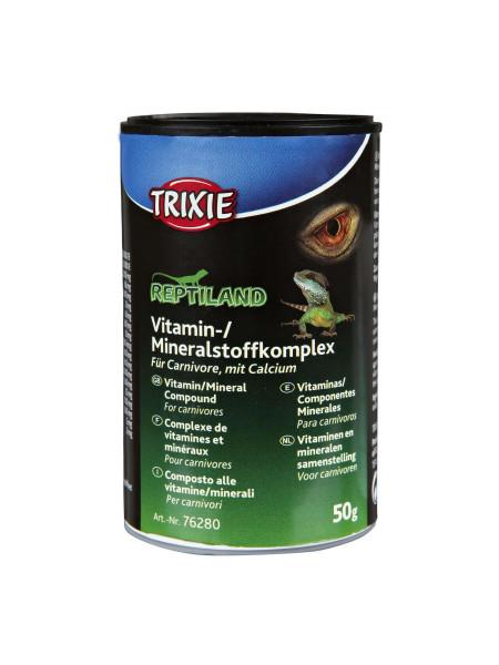 Комплекс витаминов и минералов Trixie с кальцием для плотоядных рептилий 50 г