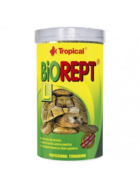Сухой корм для сухопутных черепах Tropical в палочках «Biorept L» 500 мл