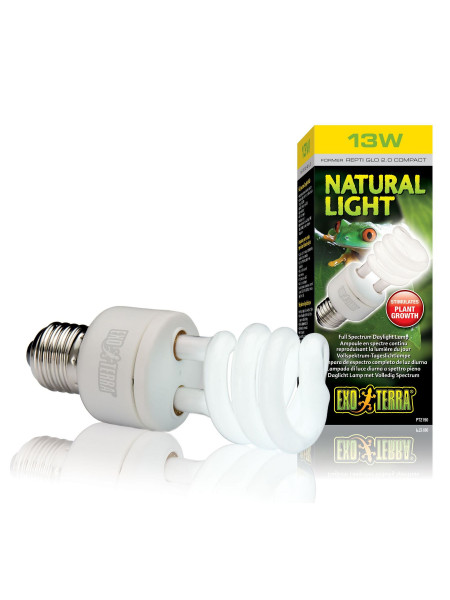 Компактная люминесцентная лампа Exo Terra «Natural Light» для облучения лучами УФ-В спектра 13 W, E27 (для облучения)