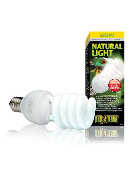 Компактная люминесцентная лампа Exo Terra «Natural Light» для облучения лучами УФ-В спектра 26 W, E27 (для облучения)